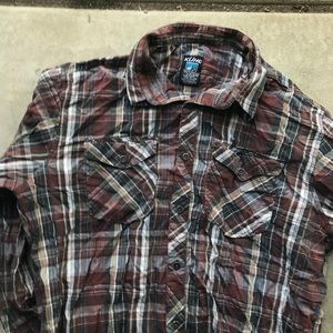 Kuhl men's plaid button up long sleeve shirt